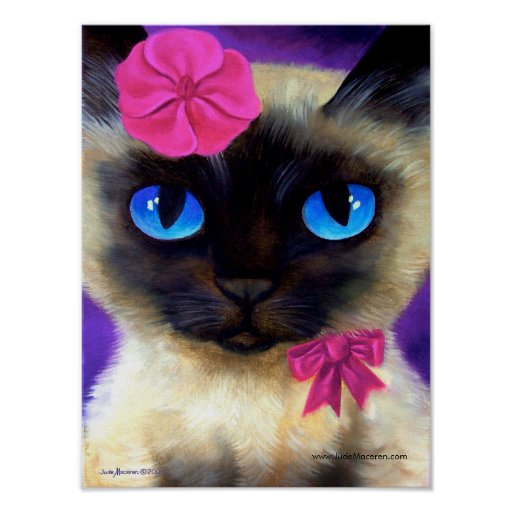 Siamese cat poster 155 charming