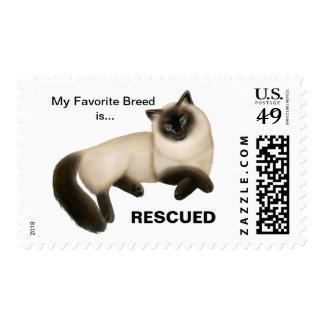 Siamese Cat Rescue Postage