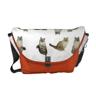 Siamese Cat Rickshaw Messenger Bag