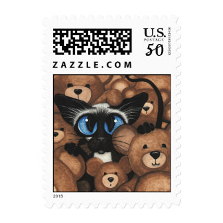 Siamese Cat Teddy Bears by BiHrLe Postage