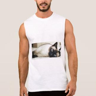 Siamese Cat Sleeveless Shirts