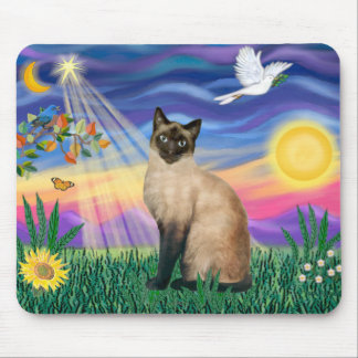 Siamese Cat - Twilght Mouse Pad