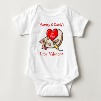 Siamese Cat Valentine Baby Creeper