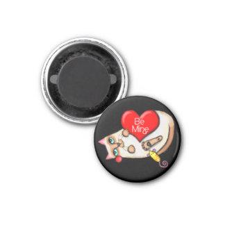 Siamese Cat Valentine Fridge Magnet