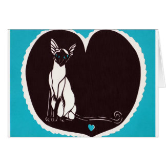 Siamese cat Valentine Greeting Cards
