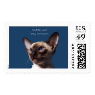 Siamese Cat Watercolor Drawing Postage