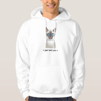 Siamese Cat (White) Personalized Hoodie
