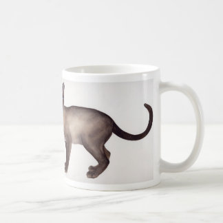 """Siamese cat with """"Cats were Gods"""" proverb text Coffee Mug"""