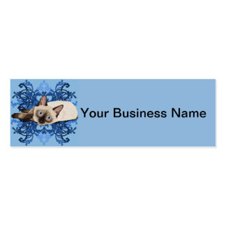 Siamese Cat With Floral Pattern Business Cards