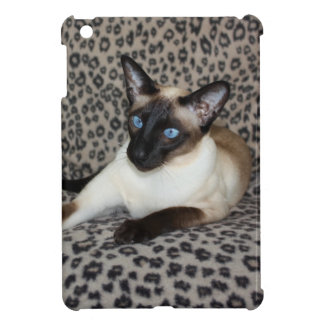 Siamese Cat with Leopard Print Wild Animal Spots Case For The iPad Mini