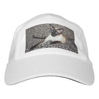 Siamese Cat with Leopard Print Wild Animal Spots Headsweats Hat