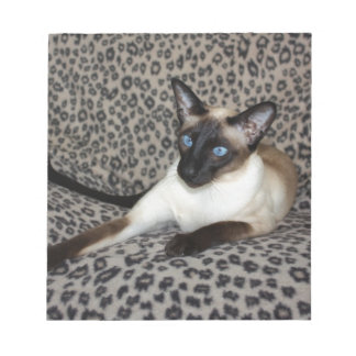 Siamese Cat with Leopard Print Wild Animal Spots Notepad