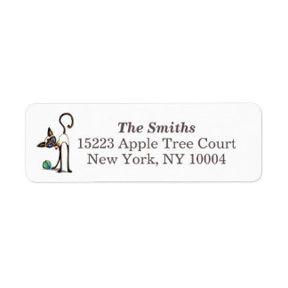 Siamese Cat Yarn Thief Return Address Label