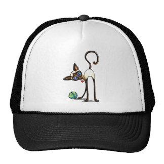 Siamese Cat Yarn Thief Trucker Hat