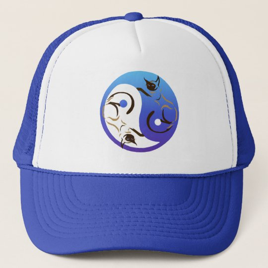 Siamese Cat Yin and Yang Hat