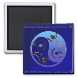 Siamese Cat Yin and Yang Magnet