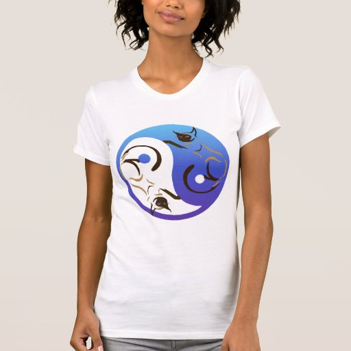 Siamese Cat Yin and Yang T-Shirt