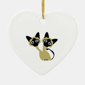 Siamese Cats Ceramic Ornament