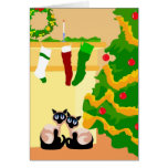 Siamese Cats Christmas Greeting Card