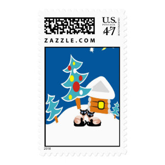 Siamese Cats Holiday Postage