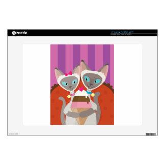 "Siamese Cats Ice Cream 15"" Laptop Skin"