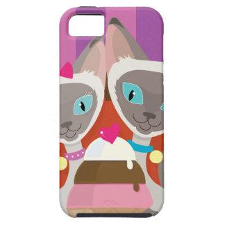 Siamese Cats Ice Cream iPhone SE/5/5s Case