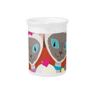 Siamese Cats Ice Cream Pitcher