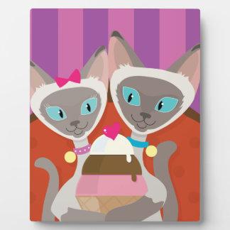 Siamese Cats Ice Cream Plaque