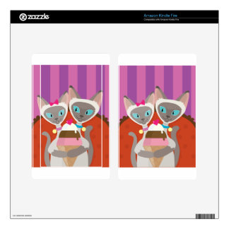 Siamese Cats Ice Cream Skin For Kindle Fire