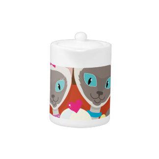 Siamese Cats Ice Cream Teapot