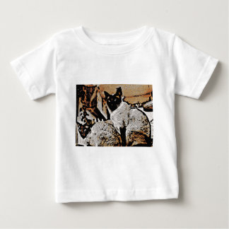 Siamese Cats of Yore Baby T-Shirt