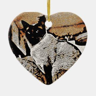 Siamese Cats of Yore Ceramic Ornament