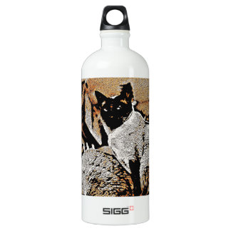Siamese Cats of Yore Water Bottle