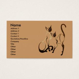 Siamese Cats Profile Card