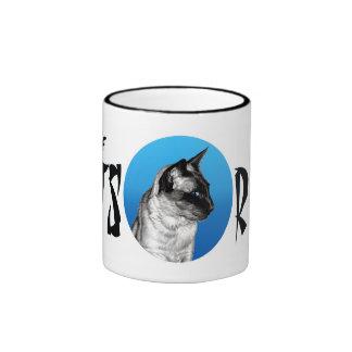 Siamese Cats Rule Ringer Coffee Mug