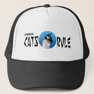 Siamese Cats Rule Trucker Hat