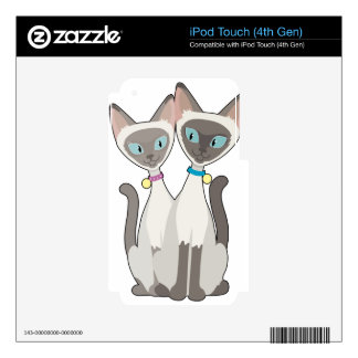 Siamese Cats iPod Touch 4G Decal