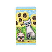Siamese Cats Sticker / Labels