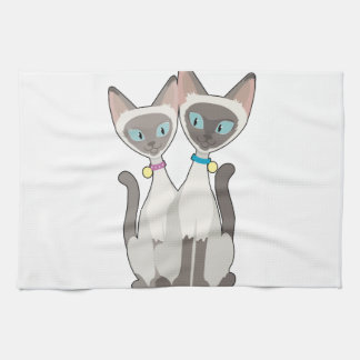 Siamese Cats Towels