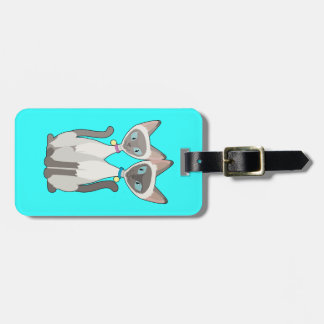 Siamese Cats Travel Bag Tags