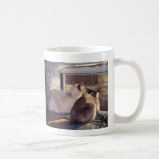 Siamese Cats Two at Window (2) Classic White Coffee Mug