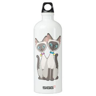 Siamese Cats Water Bottle