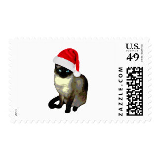 Siamese Christmas Cat Stamps