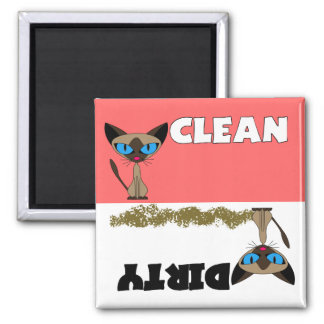 Siamese Clean / Dirty Dishwasher Magnet