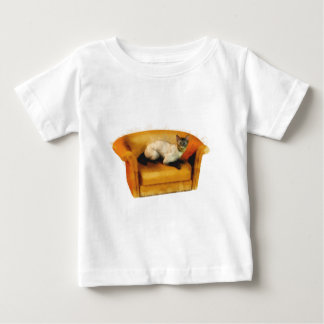 Siamese Couch Cat Baby T-Shirt