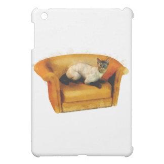 Siamese Couch Cat iPad Mini Cover
