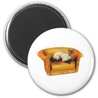 Siamese Couch Cat Refrigerator Magnets