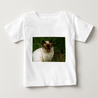 Siamese Feral Cat With Tongue Out Baby T-Shirt