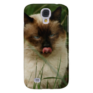 Siamese Feral Cat With Tongue Out Galaxy S4 Covers