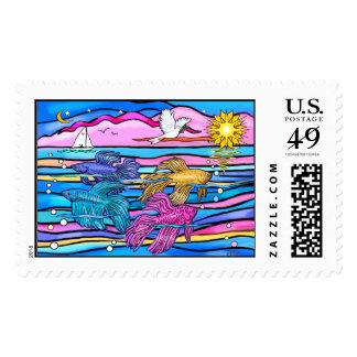 Siamese Fighting (Betta) Fish Stamp
